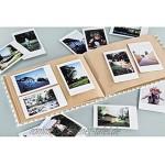 Hama Polaroid Fotoalbum für Instax Mini Fotobuch für ca. 20-30 Sofortbilder Album zum einkleben und selbstgestalten Blätter-Motiv